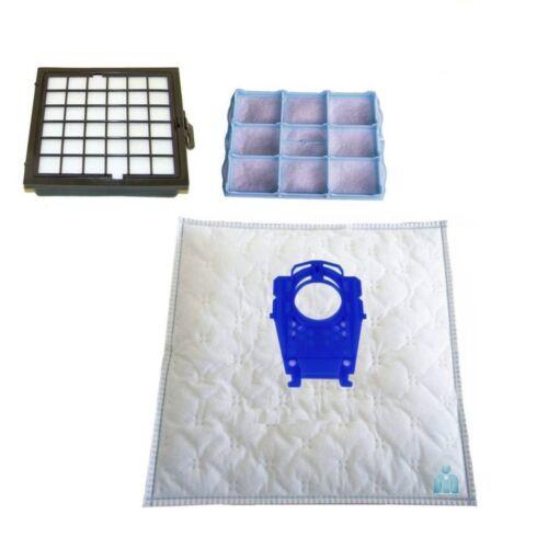 10-20-40 Sacchetto per aspirapolvere HEPA-Filter-Set Siemens vs08g2075//03 Car /& Home