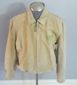 cc3551feae2d Image is loading Rainforest-Cafe-Chicago-suede-leather-jacket-coat-bomber-