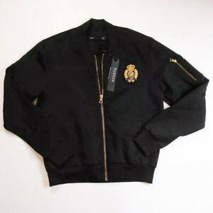 Hudson-Outerwear-mens-100-authenitc-L-S-zip-up-bomber-jacket-size-large-black