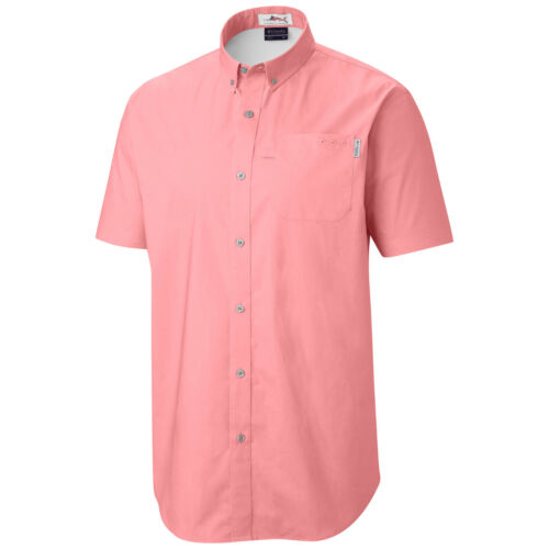"New Mens Columbia /""Dockside/"" Vented Fishing Short Sleeve Shirt"