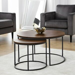 Details About Julian Bowen Bellini Round Nesting Coffee Table Bel101