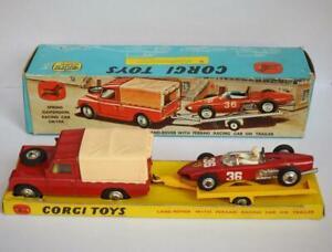 CORGI TOYS 1963-67 rara in scatola No.17 Ferrari Racing Gift Set RARO & TUTTO ORIGINALE
