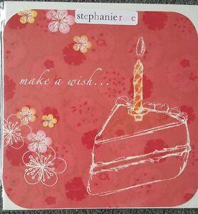 4-GOOD-QUALITY-STEPHANIE-ROSE-FEMALE-GENERAL-BIRTHDAY-CARDS-cake