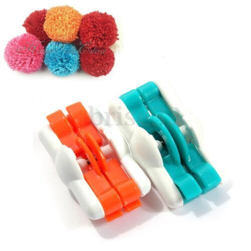 Essential Easy Pompom Maker Plush Fluff Ball Weaver Needle Knitting Tool Kit