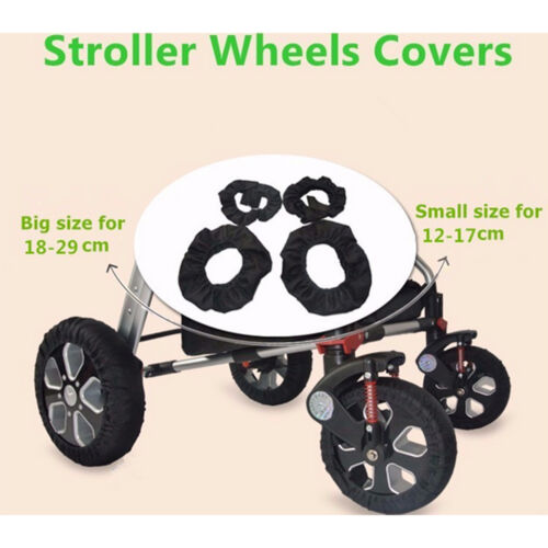 2Pcs Baby Kids Stroller Pram Anti Dirty From Floor Wheel Black Cover Accesso OQF
