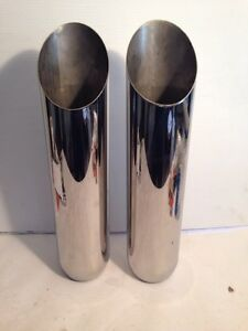 "2 1//4/"" x 3/"" x 16/""JONES STAINLESS STEEL ANGLE CUT EXHAUST TIPS-2 PCS"