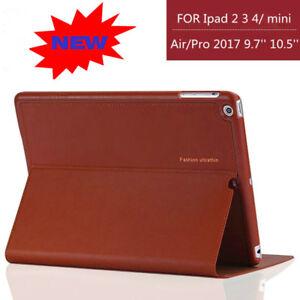 Luxury-Genuine-Leather-Case-Smart-Auto-Sleep-Cover-For-iPad-2-3-4-mini-Air-Pro