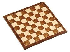 "15"" Fancy Polished Burl Wood Chess Board 1 5/8"" Square New"
