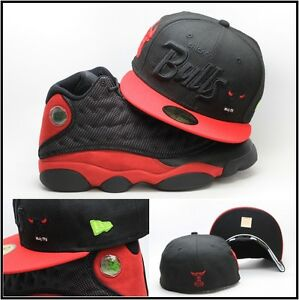 a56a1644 New Era Chicago Bulls Fitted Hat Cap For Air Jordan Retro 13 XIII ...