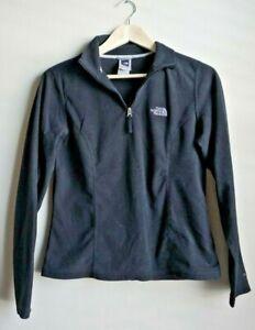 The-North-Face-Women-039-s-3-4-Zip-Up-Fleece-Black-Jacket-Size-Medium