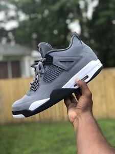 Men-039-s-Nike-Air-Jordan-4-IV-Retro-Cool-Grey-White-Black-Yellow-Size-13-308497-007