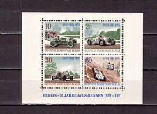 Stamps Germany Scott # 9N315 MNH 1971 Racing Cars Souvenir Sheet Mercedes Opel