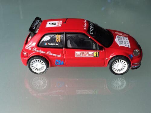 NEW DECAL 1 43 CITROEN SAXO S1600 N°81 CORNU RALLY  WRC MONTE CARLO 2006