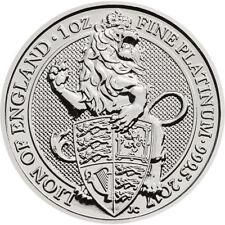 2017 1 oz British Platinum Queen's Beast Lion Coin (BU)