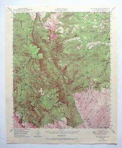 Topographic Map Mountains.Mcfadden Peak Arizona Vintage Usgs Topographic Map 1949 Sierra Ancha