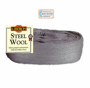 LIBERON-2-Metre-Cut-Length-2M-0000-ULTRA-FINE-GRADE-STEEL-WIRE-WOOL-Non-Crumble