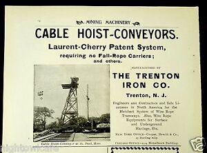 1899 Ad Trenton Iron Company Trenton New Jersey Cable