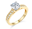 thumbnail 1 - 1.75 Ct Round Cut Engagement Wedding Ring Cathedral Setting Real 14K Yellow Gold