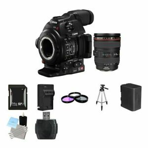 Details about Canon EOS C100 Mark II Cinema EOS Camera w/24-105mm Lens 64GB  Package