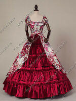 Victorian Belle Civil War Floral Garden Ball Gown Dress Theatre Clothing 020