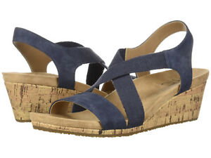 f6cbcb141173 Image is loading LifeStride-Women-039-s-Mexico-Wedge-Sandal-Navy