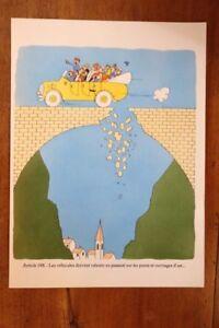 1955 Albert Dubout Gravure Couleurs Code De La Route à Encadrer Décoration N°14