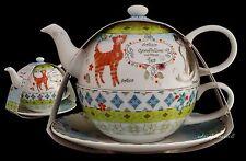 PORTMEIRION ARTHUR GOODFELLOW TEA FOR ONE T41 TEA POT CUP CATS