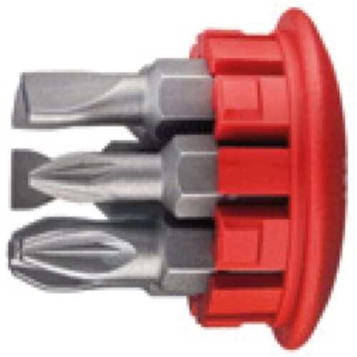 WIHA Mini-Schraubendreher mit 6 Bits im Griff PH 1,2,3