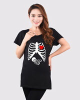Funny Skeleton Bones Baby Maternity Tops T-Shirt Clothing For Women Pregnancy