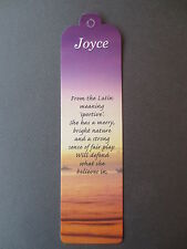 BOOKMARK JOYCE Name Meaning NEW CHRISTMAS BIRTHDAY Thankyou Easter Gift Present