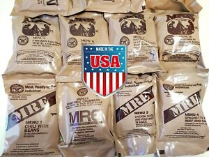New INDIVIDUAL 2022 MRE - Random 1 of 24 - GENUINE US MILITARY MEAL READY TO EAT