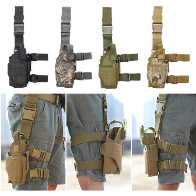 5 Colors Tactical Pistol//Gun Drop Leg Thigh Holster w// Mag Pouch Right Hunting