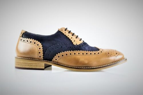 Boys London Brogues Gatsby Leather Formal Smart Brogue Shoes Junior Sizes 3-6