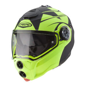 CASCO-MODULARE-CABERG-DROID-PATRIOT-MATT-BLACK-YELLOW-FLUO-TAGLIA-S