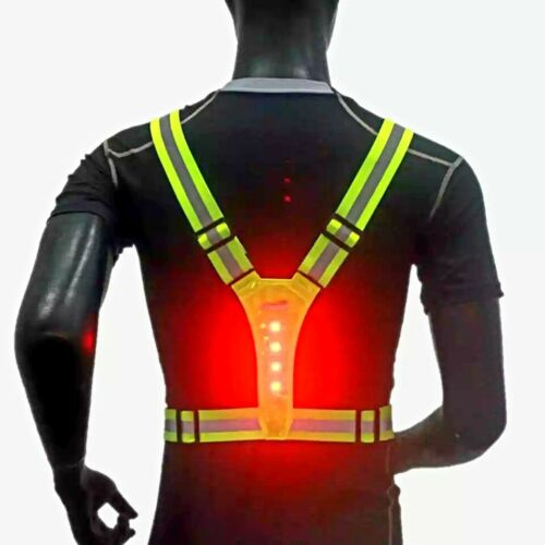 Cycling Safety Vest LED High Visibility Reflective Outdoor Running Hiking Jacket