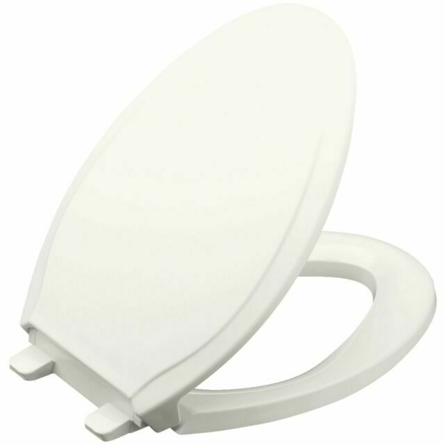 Kohler K47340 Rutledge Elongated Toilet Seat With Grip Tight Bumpers White For Sale Online Ebay