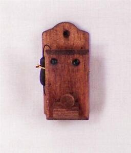 """Dollhouse Miniature Black /""""Vintage Look/"""" Telephone"""
