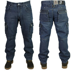 Mens-New-MC-Buddy-Regular-fit-Combat-Cargo-Mid-Used-Jeans-Pants-All-Sizes-28-50