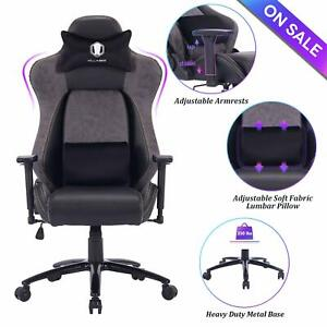 Brilliant Details About Killabee Big And Tall Gaming Chair Racing Office Chair With Metal Base Gray Ocoug Best Dining Table And Chair Ideas Images Ocougorg