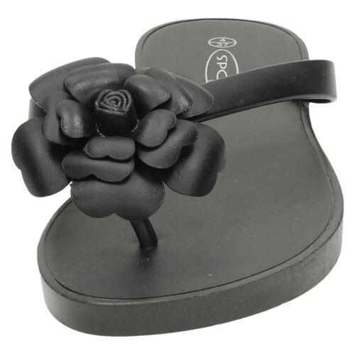 Damen F0904 mit Blumen Zehensteg Zehentrenner Von