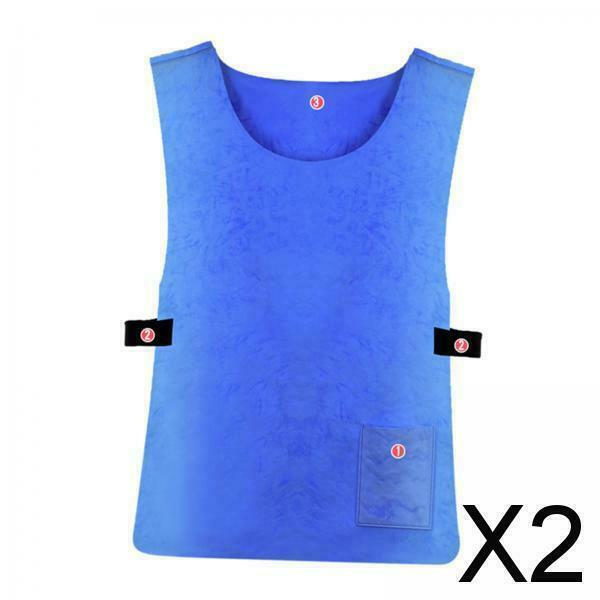 2X Quick Cool Clothing Outdoor Hot Weather Cooling Ice Vest for Summer Cycling