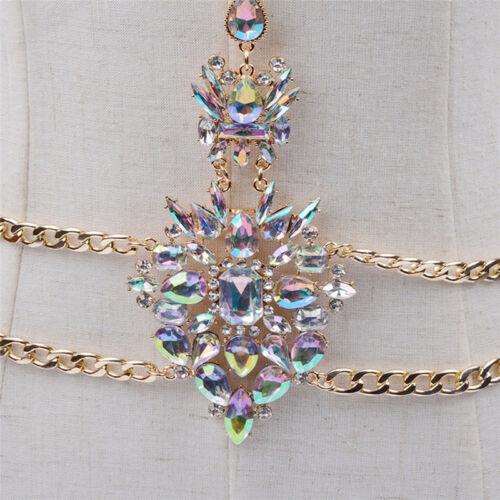 Rosa crystal edelstein anhänger nutzen körper kette kette bikini schmuck Tb