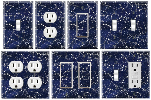 Graphics Art Toggle//Rocker//GFCI//Outlet Wall Plate Star Constellations