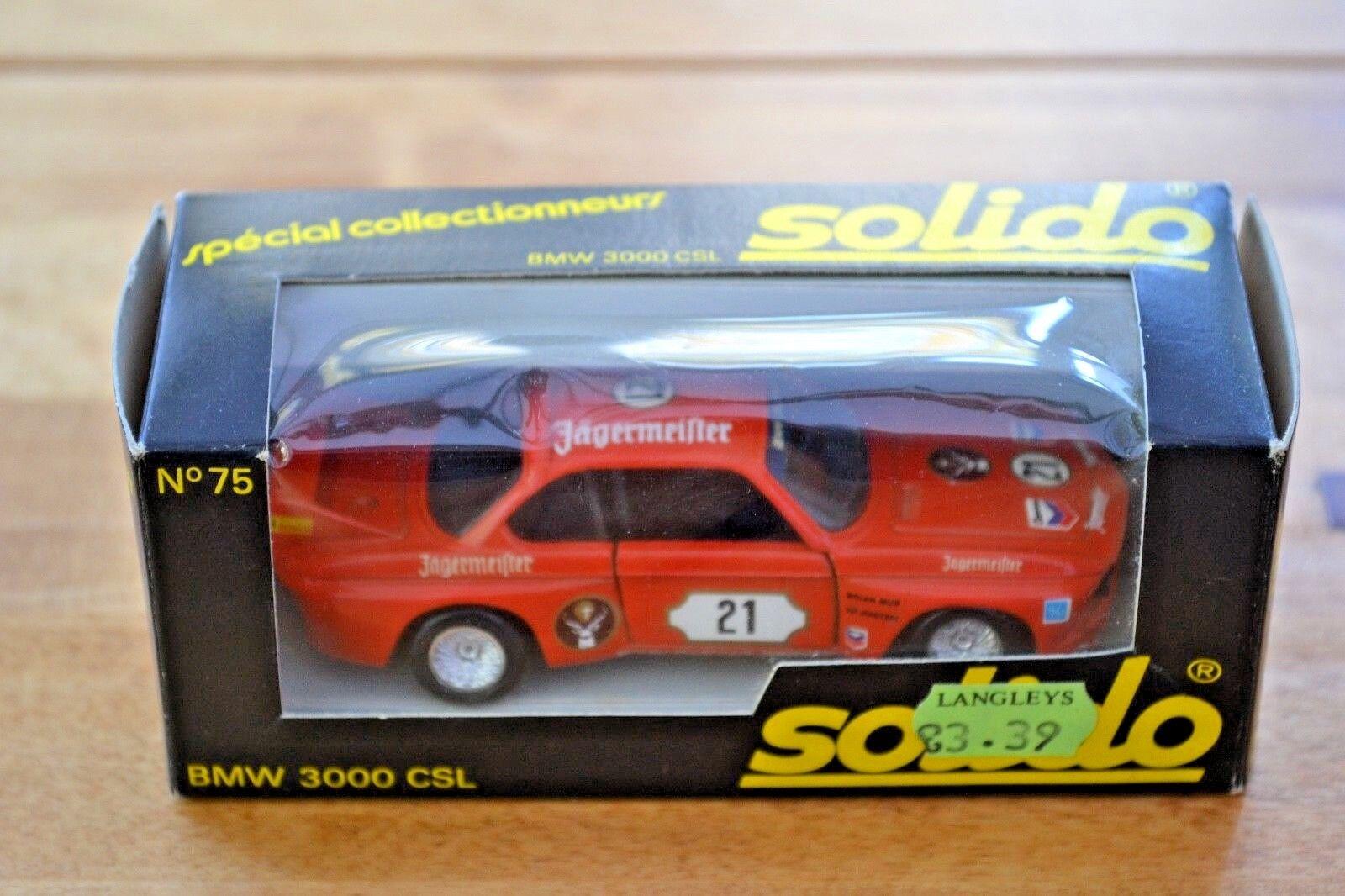 VINTAGE VINTAGE VINTAGE 1 43 in scatola Solido BMW 3000 CSL; N. 75; ottime condizioni 46cf3a