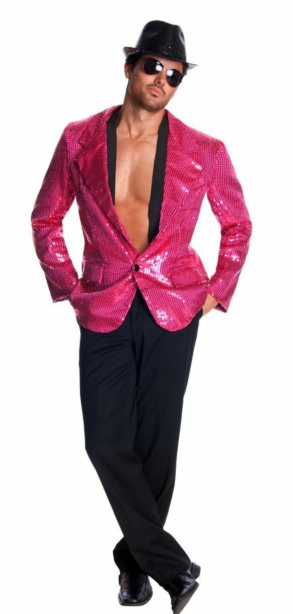 0526c59a Rubie's Costume Deluxe Hot Sequin Jacket Large Pink for sale online ...