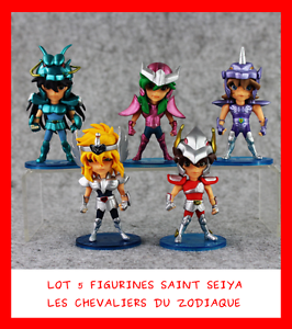 LOT 5 FIGURINES 10cm SAINT SEIYA LES CHEVALIER DU ZODIAQUE SHUN SHIRYU HYOGA IKI