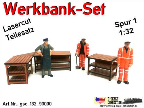 Märklin 1 Spur 1 Lasercut gsc/_132/_90000 1:32 Werkbank Set für z.B