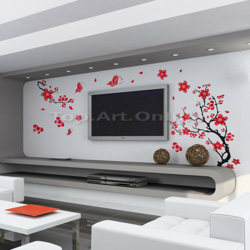 Vinyl Blossom Flowers Tree Removable Wall Stickers Decal Home Decor wh2n