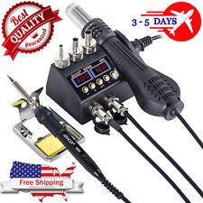2 In 1 750w Soldering Station Hot Air Gun Heater Jcd 8898 Lcd Digital Display