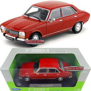 1-18-Welly-Peugeot-504-Berlina-1975-Rosso-Inserimento-Elenco-Scatola-Originale